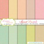 Free digital paper pack Sweet Pastels Set