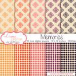 Free digital paper pack Memories Set