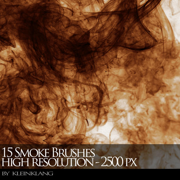 15 Smoke Brushes 2500 PX by kleinklang