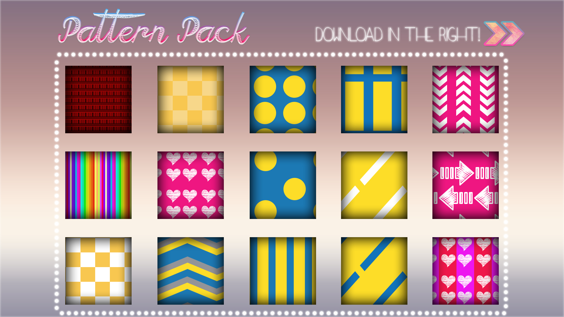 PS| Pattern Pack //15//