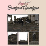 MMD Stage  Hogwarts - Courtyard Apocalypse  /PMX/