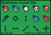 Mushroom Cursor Set by LordPrevious