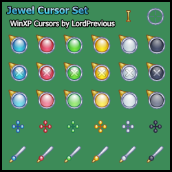 Jewel Cursor Set by LordPrevious