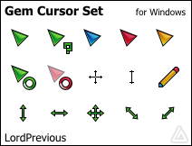 Gem Cursor Set by LordPrevious