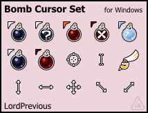 Bomb Cursor Set by LordPrevious