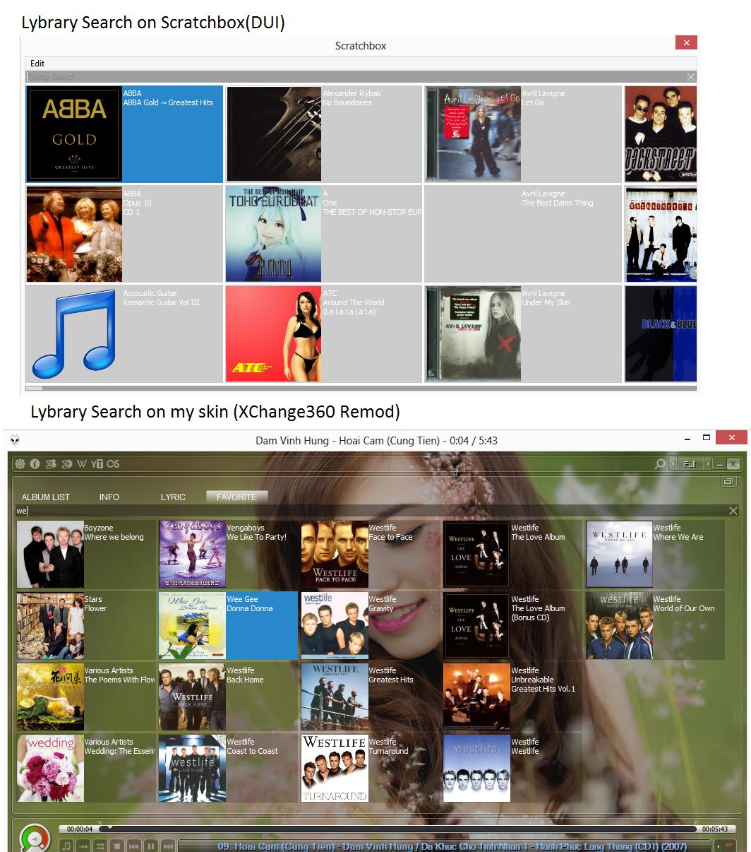 Album Library Search (WSH Script)