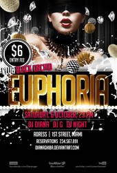FREE PSD FLYER - Euphoria by dianaghiba