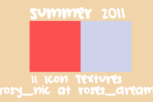 Texture Set 09 - Summer 2011 by rosynic87