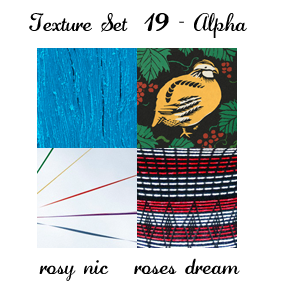 Texture Set 19 - Alpha by rosynic87