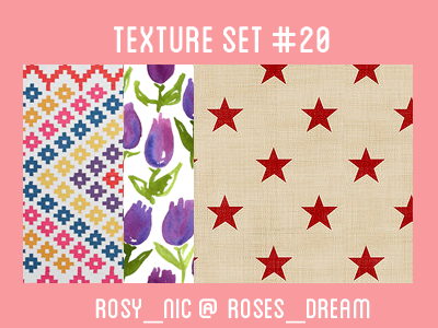 Texture Set #20 by rosynic87