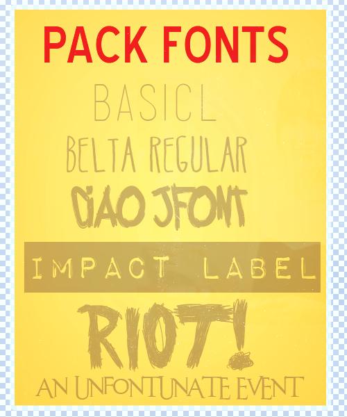 Pack Fonts by KarenNya