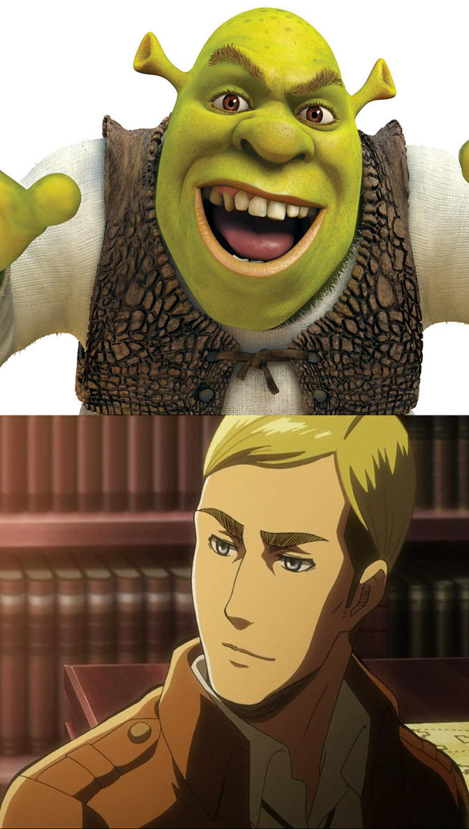 Accidentally in Love - Shrek x Erwin Smith by what-the-honk