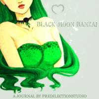 Journal Skin Black Moon Banzai by predilectionstudio