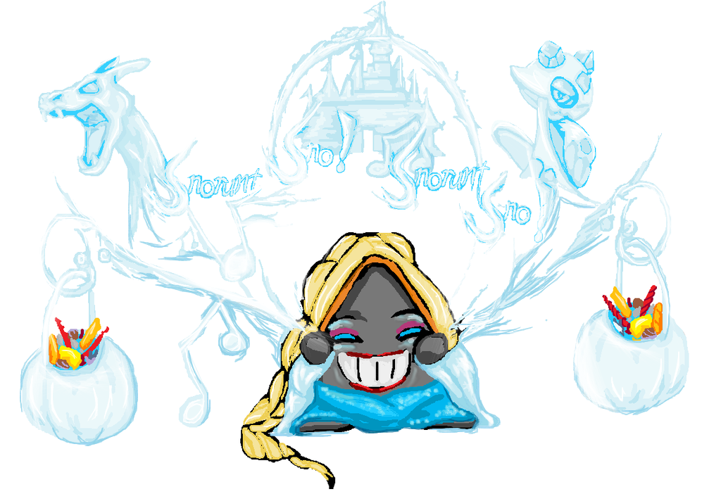 Snorunt for Pokemon Inktober Charity-Collab by dourdan