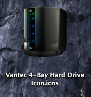 Vantec 4-Bay Hard Drive Icon by frankmareno