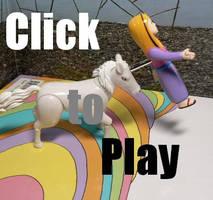 Unicorn Attack and Defeat Gif