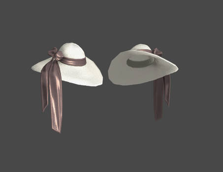 BnS 040099 JinF large white hat for xps