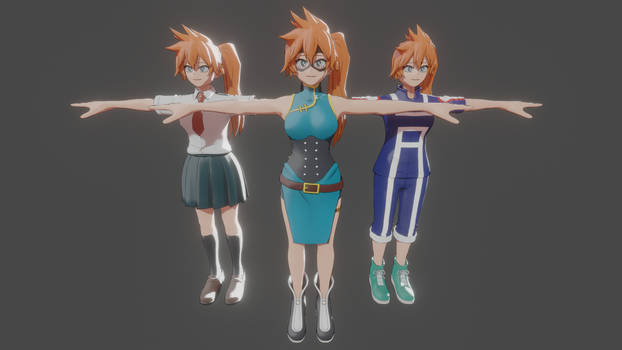 MHA One Justice 2 - Itsuka Kendo pack for XPS