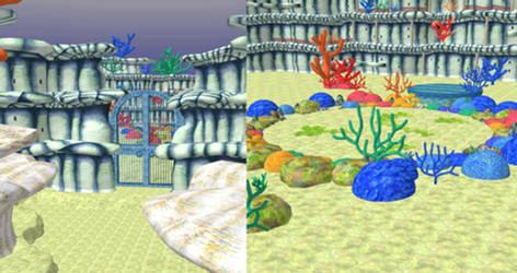 One Piece UWR - Fishmen Island Stage for XPS by o-DV89-o
