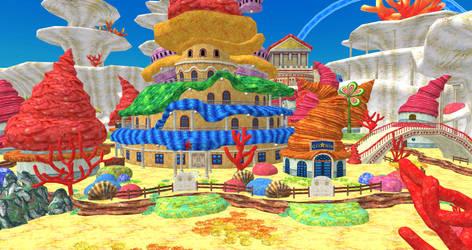 One Piece UWR - Fishman Island Village by o-DV89-o