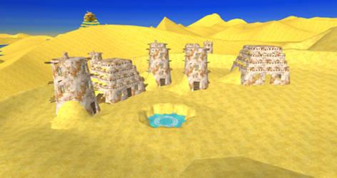 One Piece UWR - Alabasta Desert Village for XPS by o-DV89-o