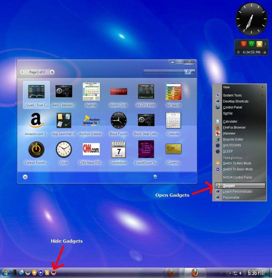 Vista windows sidebar reinstate on windows 7 windows 7 help forums.
