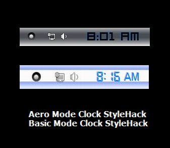 Win7  2 Types Of Clock StyleHacks by ZombieGroundSquirrel