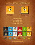 Square Angry Birds Icons