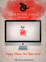 Year of the Snake Wallpaper by BenSow