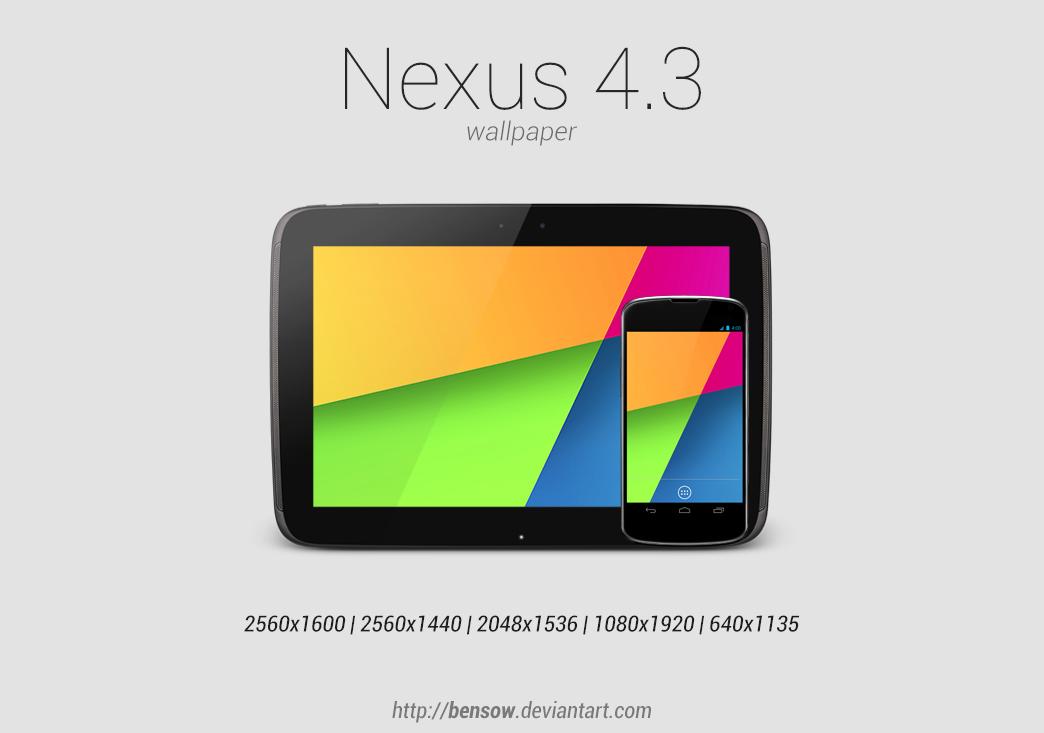 Nexus 4.3 Wallpaper by BenSow