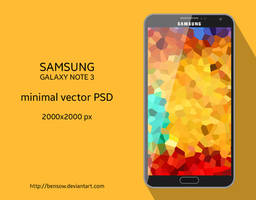 Galaxy Note 3 Vector PSD by BenSow