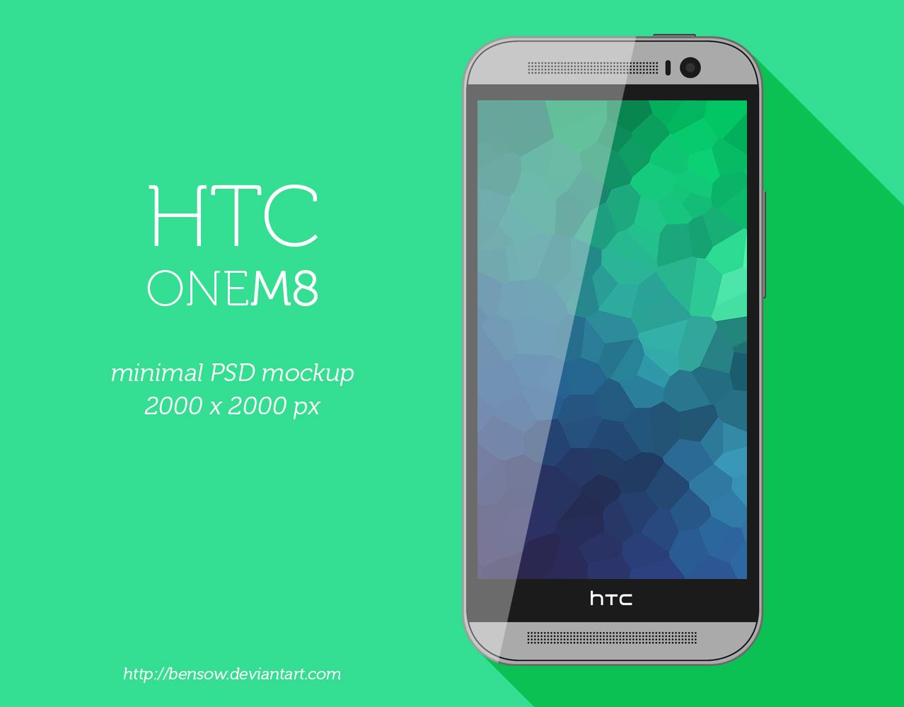 HTC One M8 Minimal PSD