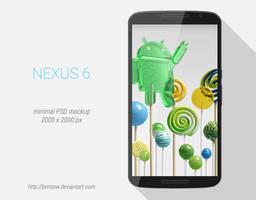 Motorola Nexus 6 PSD Mockup by BenSow