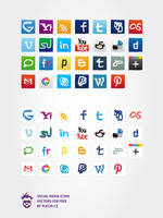 Social media icons 2012 update by plechi