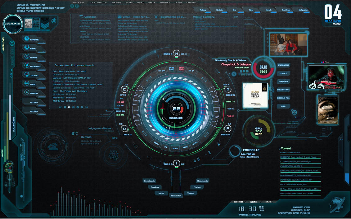 JARVIS Highpitched OS 1.1.1 by 5yNt3t1K on DeviantArt