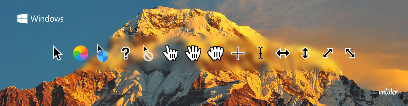 macOS Sierra cursors for Windows (only 200%) by antiden
