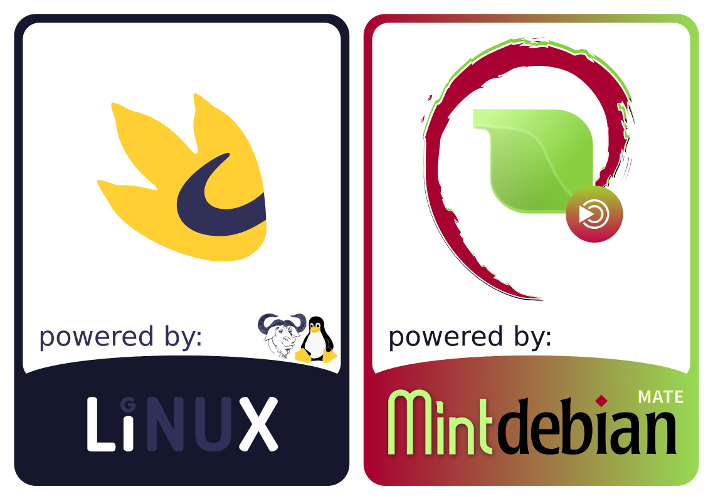 GNU Linux and Mint Debian MATE Stickers by nashabah ...