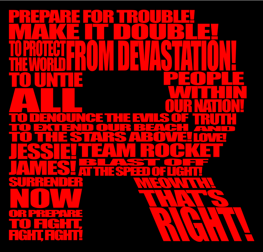 Team Rocket Typographic By Hakitocz On Deviantart