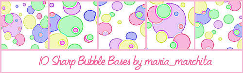 10 Bases with Outlined Bubbles by maria-marchita