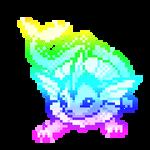 GIF: Colorful vaporeon