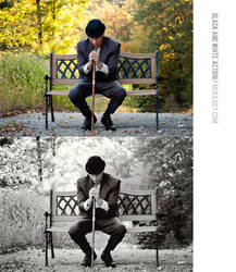 Black and White Action - Hitam Klasik by nickilroy