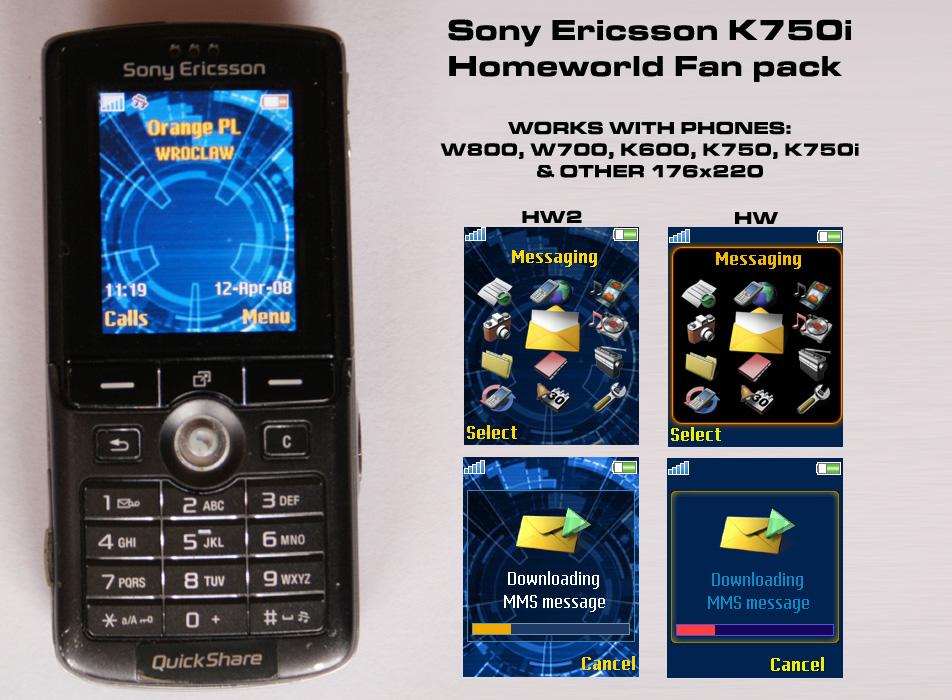SE K750i Homeworld Fan pack