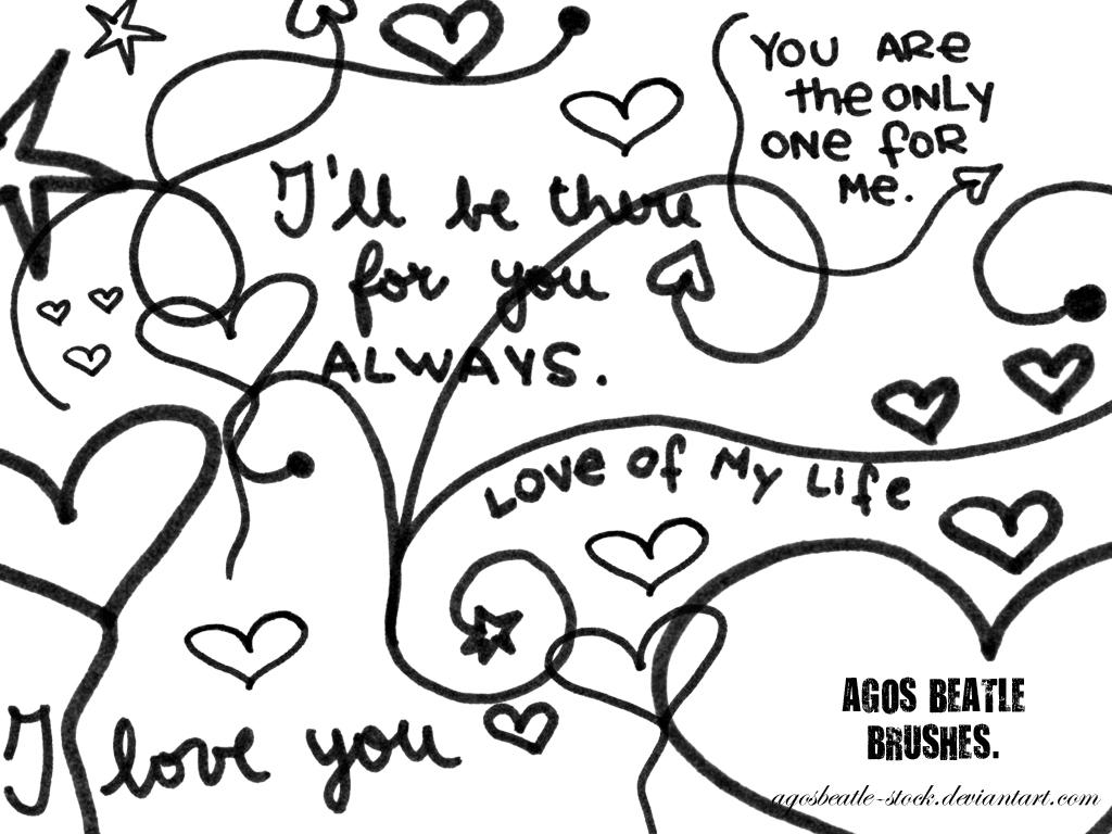 BRUSHES: I love you by agosbeatle-stock
