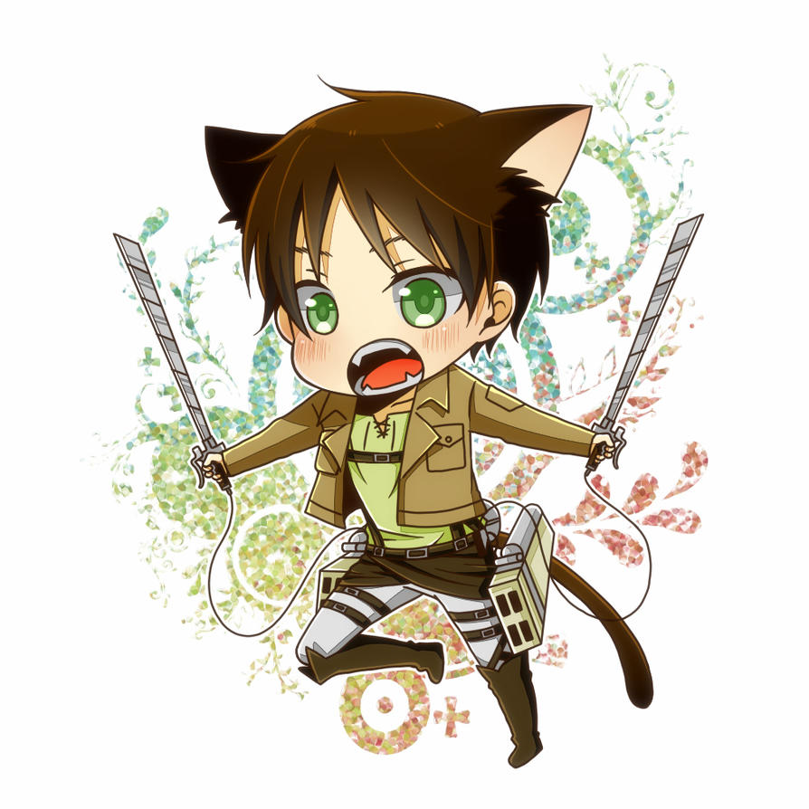 Attack On Titan X Modern Reader: Neko!Eren X Reader