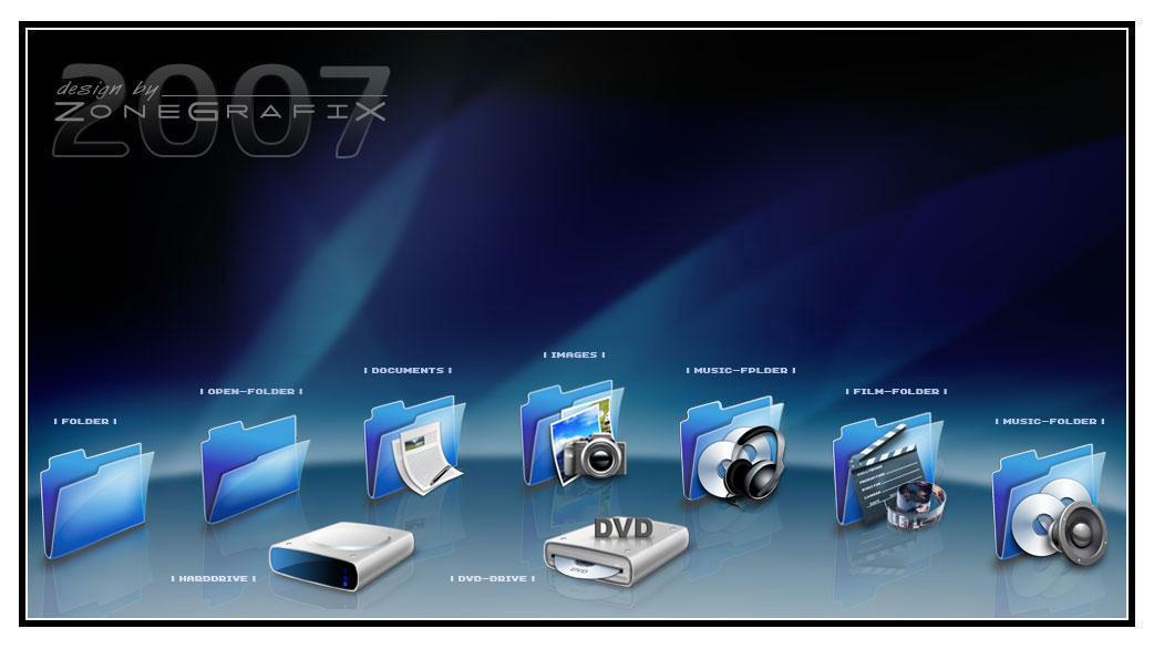 ZoneGrafix IconPack v.01 by ZoneGrafix