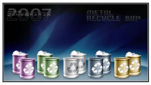 Metallic RecycleBin Set
