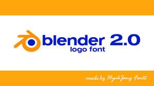 Blender 2.0 Logo Font