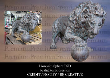 Lion with Sphere PSD by slight-art-obsession