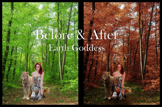 Earth Goddess Before and After
