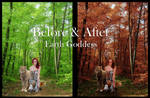Earth Goddess Before and After by slight-art-obsession